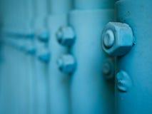 Μπλε ντυμένο καρύδι βρώμικο σε μια σειρά Στοκ Εικόνες