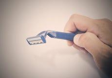 μπλε ξυριστική μηχανή Στοκ φωτογραφία με δικαίωμα ελεύθερης χρήσης