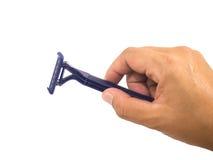 μπλε ξυριστική μηχανή Στοκ Φωτογραφία