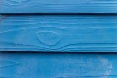 Μπλε ξύλινη ανασκόπηση Στοκ Εικόνες