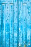 Μπλε ξύλινη πόρτα/ξύλινη σύσταση/τρύγος ζωηρόχρωμοι Στοκ Εικόνες