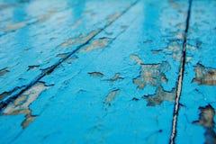 Μπλε ξύλινο παλαιό υπόβαθρο πινάκων Στοκ Φωτογραφίες