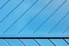 Μπλε ξύλινο Slats υπόβαθρο Στοκ Εικόνες