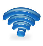 Μπλε λογότυπο σημάτων δικτύων Στοκ Εικόνες