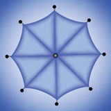 μπλε ομπρέλα Στοκ εικόνες με δικαίωμα ελεύθερης χρήσης