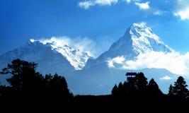 Μπλε ορίζοντας Annapurna 1 Ι και νότος Annapurna Στοκ φωτογραφία με δικαίωμα ελεύθερης χρήσης