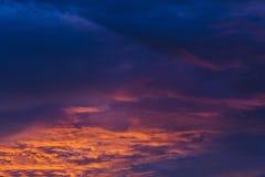 Μπλε ουρανός ηλιοβασιλέματος Στοκ Εικόνα