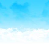 Μπλε ουρανός και αφηρημένη απεικόνιση σύννεφων Στοκ φωτογραφία με δικαίωμα ελεύθερης χρήσης