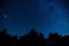 Μπλε ουρανός κορυφογραμμών στοκ φωτογραφίες