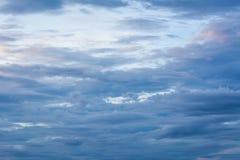 Μπλε ουρανός μετά από το ηλιοβασίλεμα Στοκ Φωτογραφίες