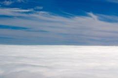 Μπλε ουρανός με την εναέρια άποψη σύννεφων Στοκ Εικόνες