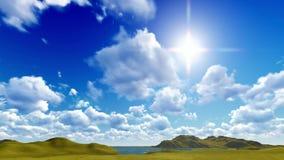 Μπλε ουρανός με το cloudscape φιλμ μικρού μήκους