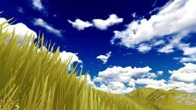 Μπλε ουρανός με το cloudscape απόθεμα βίντεο