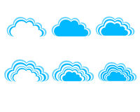 Μπλε ουρανός, μπλε σύννεφα Στοκ Εικόνα