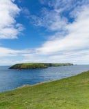 Μπλε ουρανός νησιών Skomer Στοκ Εικόνες