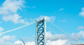 Μπλε ουρανός πέρα από τη γέφυρα Στοκ Εικόνα