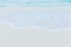 μπλε ουρανός παραλιών έννοια για το θερινό όμορφο ουρανό, αφίσα, BA Στοκ Φωτογραφία