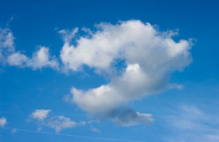 μπλε ουρανός σύννεφων μπλε ουρανός σύννεφων Στοκ εικόνα με δικαίωμα ελεύθερης χρήσης