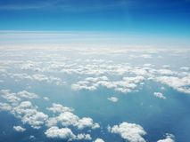 μπλε ουρανός σύννεφων Όψη από το αεροπλάνο Στοκ φωτογραφία με δικαίωμα ελεύθερης χρήσης