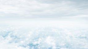 Μπλε ουρανός φαντασίας και όμορφα σύννεφα, σύλληψη απείρου Στοκ Εικόνα