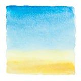 Μπλε ουρανός Watercolor Στοκ εικόνες με δικαίωμα ελεύθερης χρήσης
