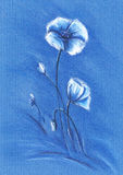 μπλε λουλούδια Ελεύθερη απεικόνιση δικαιώματος