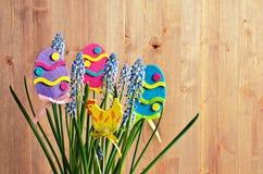 Μπλε λουλούδια muscari Στοκ Φωτογραφίες