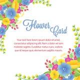 Μπλε λουλούδι καρτών ελεύθερη απεικόνιση δικαιώματος