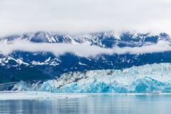 Μπλε πάγος του παγετώνα Hubbard Στοκ εικόνες με δικαίωμα ελεύθερης χρήσης