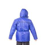 Μπλε πίσω άποψη φανέλλων Στοκ εικόνες με δικαίωμα ελεύθερης χρήσης