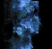 Μπλε παγετός που εκρήγνυται στο σκοτεινό γυαλί Μαύρο αφηρημένο υπόβαθρο W ελεύθερη απεικόνιση δικαιώματος