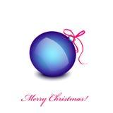 Μπλε παιχνίδι Χριστουγέννων Στοκ Εικόνες