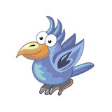 Μπλε παπαγάλος στο απομονωμένο υπόβαθρο - διανυσματική απεικόνιση Στοκ Εικόνες