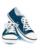 μπλε παπούτσια γυμναστικής Στοκ Εικόνα