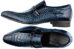 Μπλε παπούτσια των κλασικών ατόμων Στοκ Εικόνες