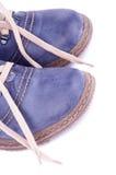 Μπλε παπούτσια Στοκ εικόνα με δικαίωμα ελεύθερης χρήσης