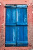 Μπλε παραθυρόφυλλο Στοκ Εικόνες