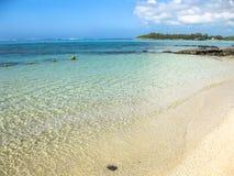 Μπλε παραλία Μαυρίκιος κόλπων Στοκ Φωτογραφίες