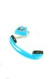 μπλε παλαιό τηλέφωνο Στοκ Εικόνες