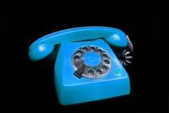 μπλε παλαιό τηλέφωνο Στοκ Εικόνα