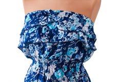 Μπλε περιστασιακό αμάνικο φόρεμα Στοκ Εικόνες