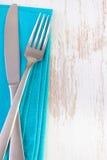 Μπλε πετσέτα στο άσπρο υπόβαθρο Στοκ Εικόνα