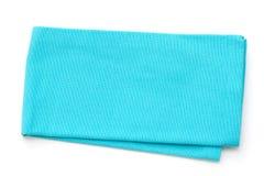 Μπλε πετσέτα στο άσπρο υπόβαθρο Στοκ εικόνες με δικαίωμα ελεύθερης χρήσης