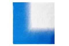 Μπλε πετσέτα της Λευκής Βίβλου που απομονώνεται Στοκ εικόνα με δικαίωμα ελεύθερης χρήσης
