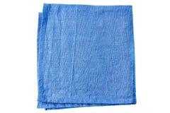 Μπλε πετσέτα υφάσματος στο λευκό Στοκ φωτογραφία με δικαίωμα ελεύθερης χρήσης