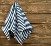 Μπλε πετσέτα Στοκ εικόνες με δικαίωμα ελεύθερης χρήσης