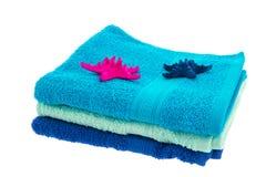 μπλε πετσέτες Στοκ Φωτογραφίες