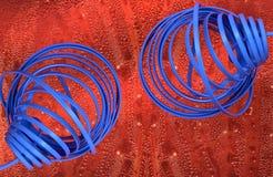 μπλε πηνίο Στοκ Φωτογραφίες