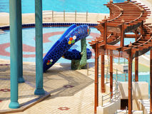 Μπλε πισίνα και φωτογραφικές διαφάνειες Στοκ Φωτογραφίες