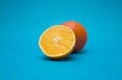 μπλε πορτοκάλι ανασκόπησ στοκ εικόνα